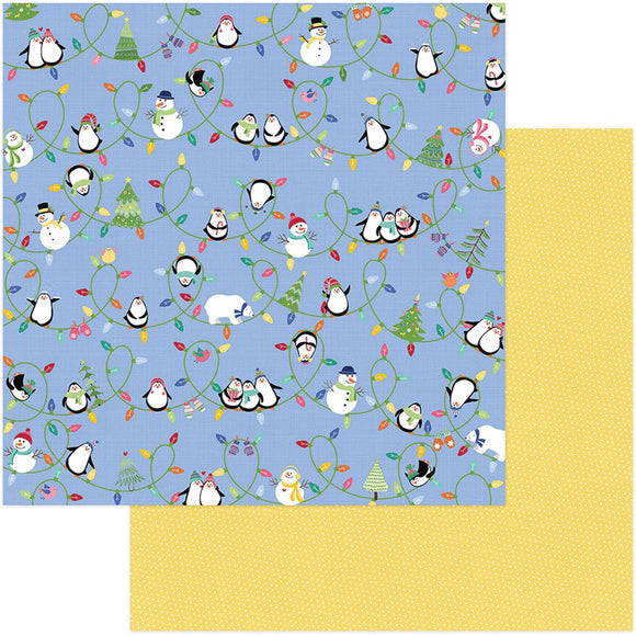 Photo Play Papers - Frosty Friends - Snow Day - 2 Sheets