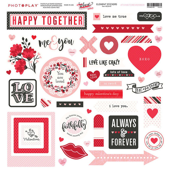 Photo Play 12x12 Cardstock Stickers - So Loved - Elements