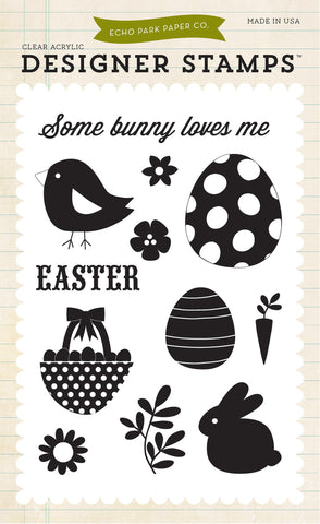 Echo Park Clear Stamp Set - Some Bunny Loves Me