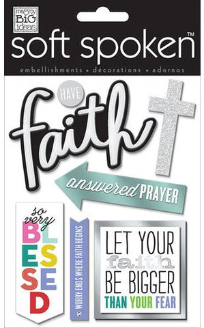 Soft Spoken 3D Embellishments - Have Faith