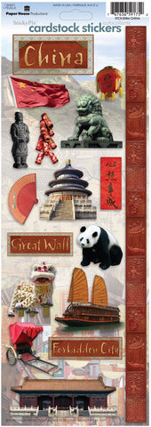 Paper House Cardstock Stickers - China
