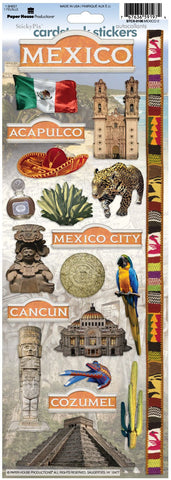 Paper House Cardstock Stickers - Mexico