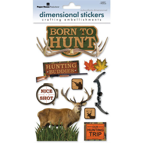Paper House 3D Stickers - Born to Hunt