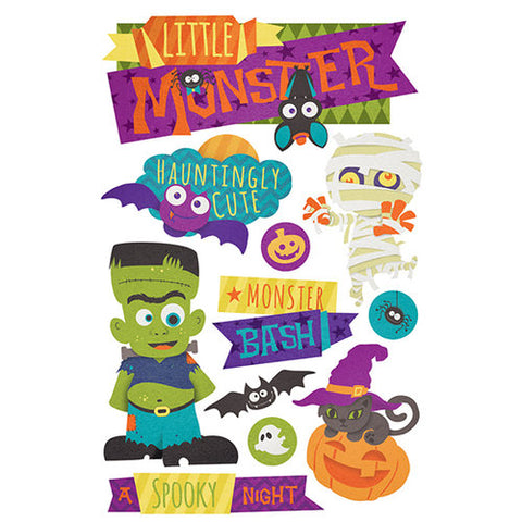 Paper House 3D Stickers - Little Monster