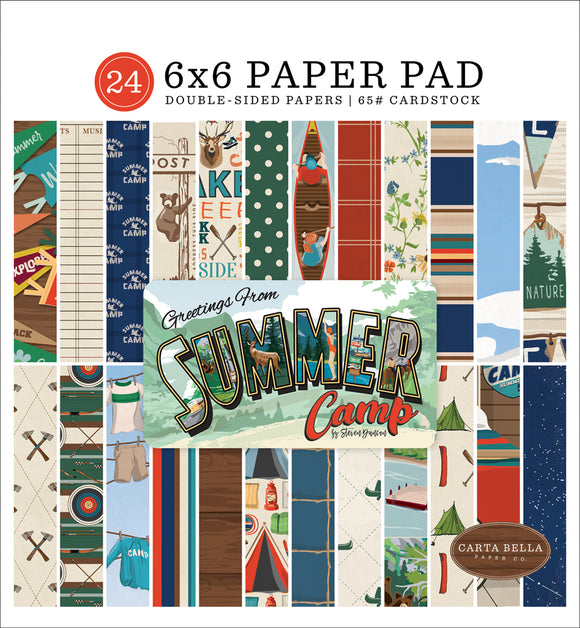 Carta Bella 6x6 Pad - Summer Camp