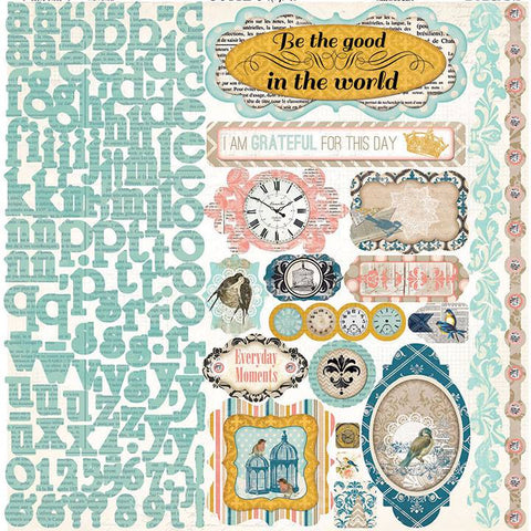 Bo Bunny Cardstock 12x12 Combo Stickers - The Avenues