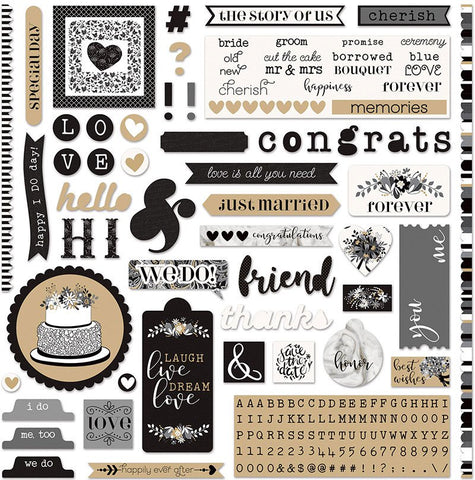 Photo Play 12x12 Cardstock Stickers - We Do - A La Card
