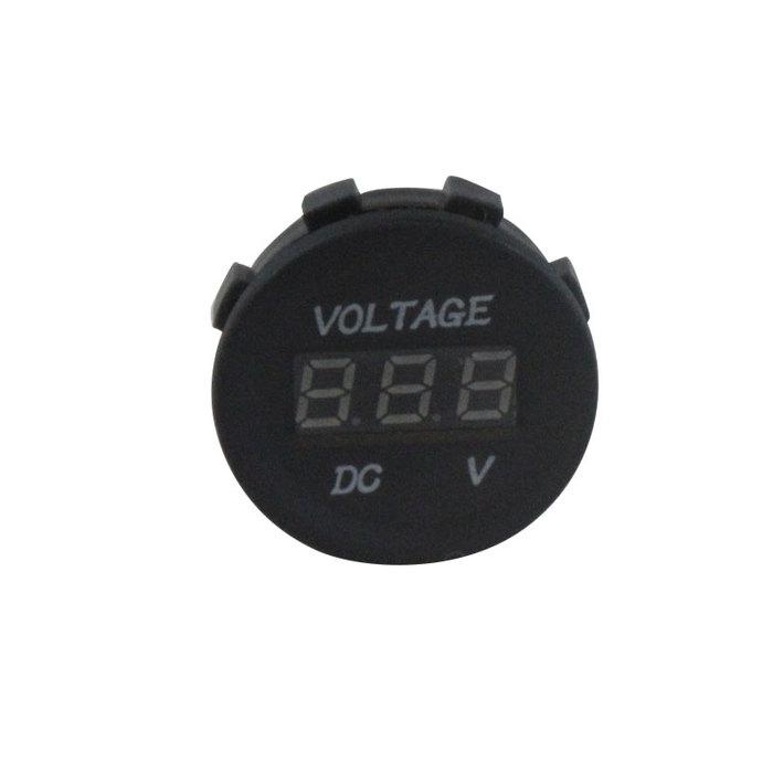 Digital LED Voltmeter 12V - Blue Illumination - KickAss Products