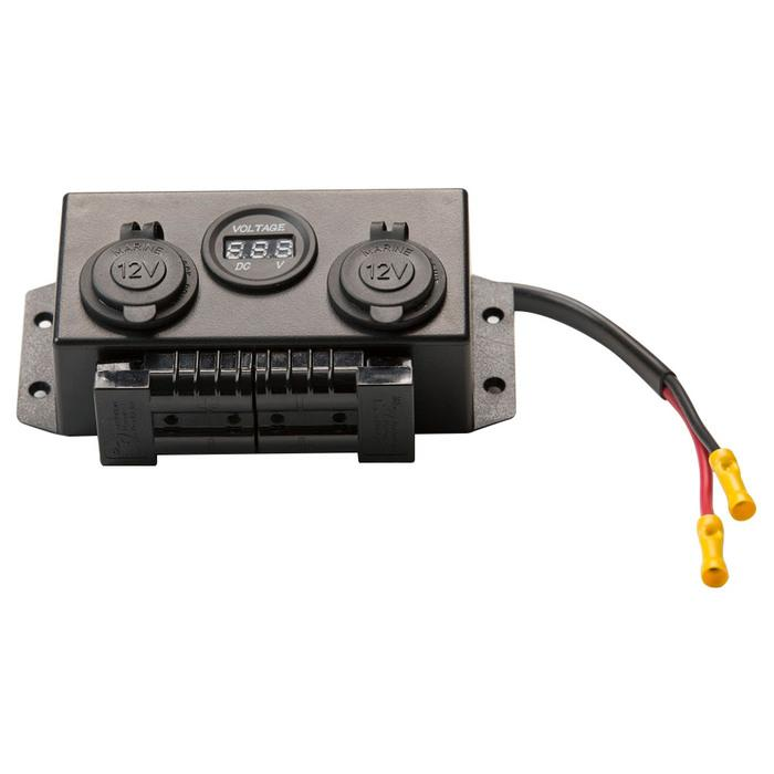 Water Resistant Marine Control Box - 12 V DC Power Distribution - Anderson Connection - KickAss Products