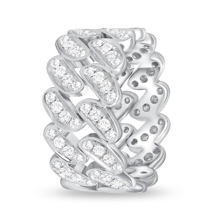 Men's 2-Row Diamond Wedding Band