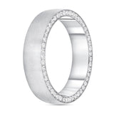 Men's Brushed Finished Diamond Ring