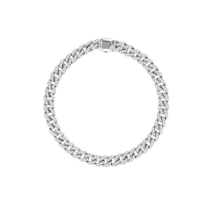 Small Diamond Cuban Bracelet