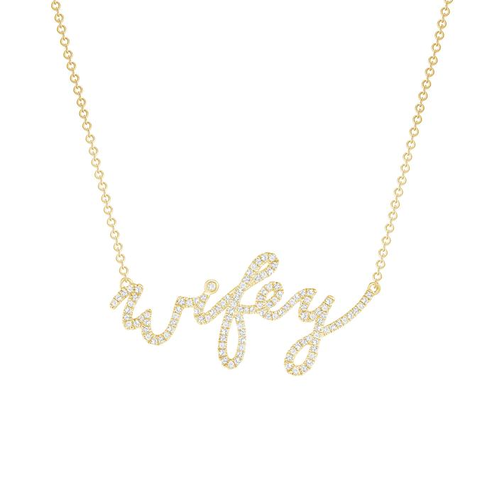 Diamond Wifey Necklace