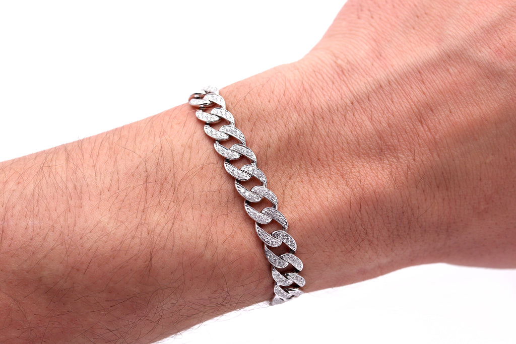 Large Diamond Cuban Bracelet
