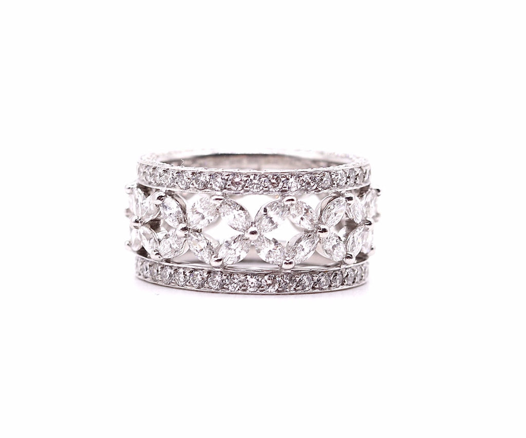 Marquise Flowers Eternity Band