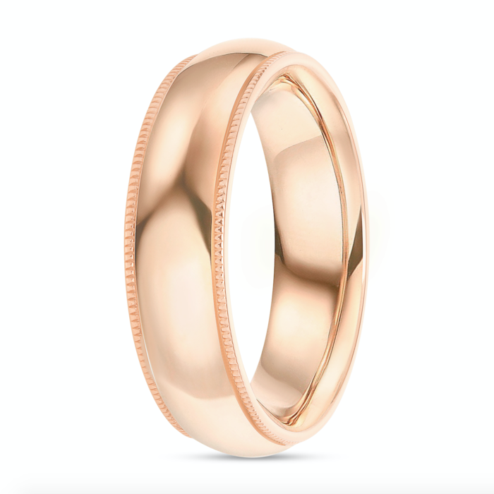 Men's Shiny Gold Wedding Band