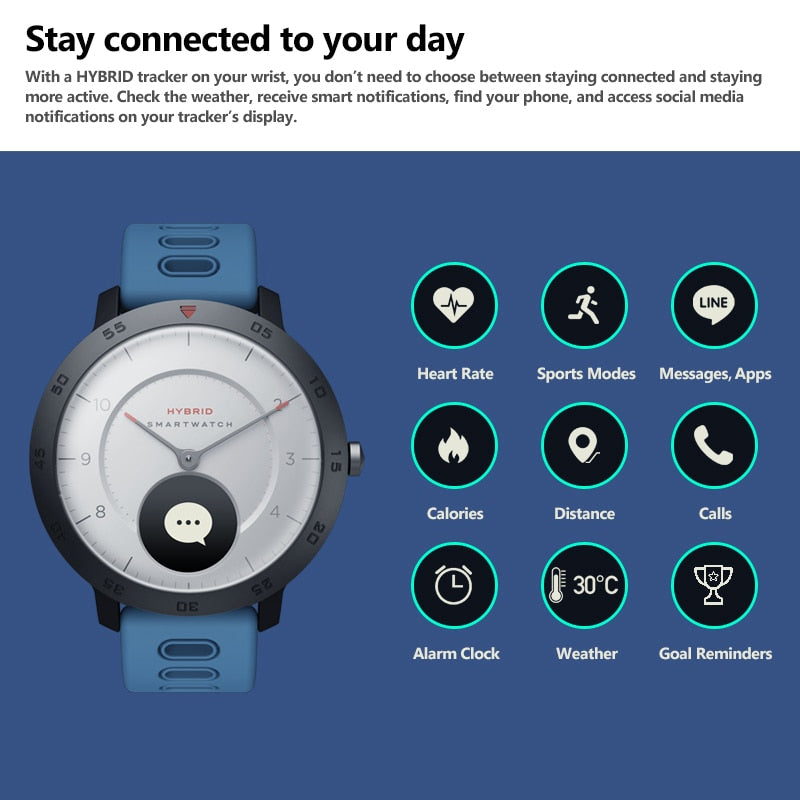 NEW Zeblaze Hybrid Smartwatch - Smart Budget Watch