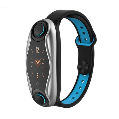 Fitness Bracelet Bluetooth 5.0 with Wireless Earphones - Smart Budget Watch