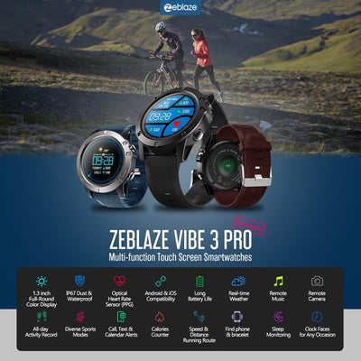 Zeblaze VIBE 3 PRO Color Touch Display Sports Smartwatch - Smart Budget Watch