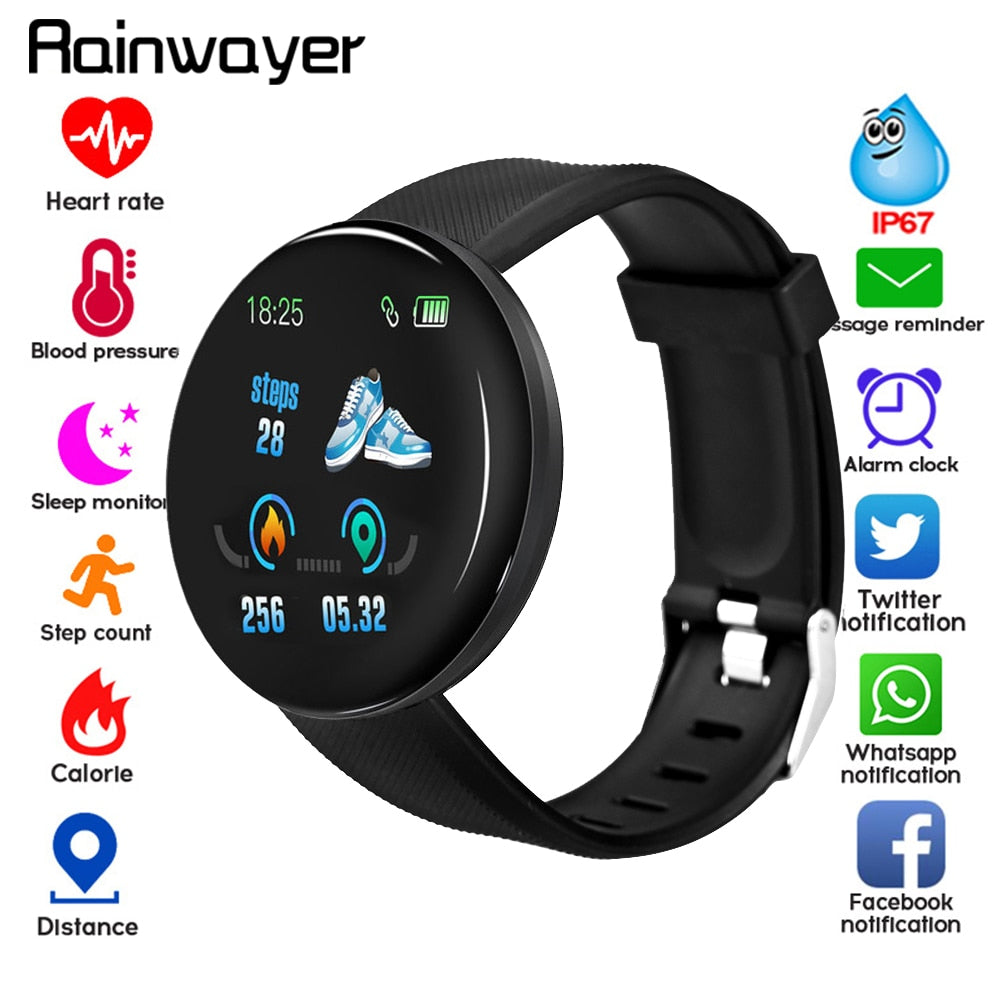 D18 Rainwayer Bluetooth Smartwatch - Smart Budget Watch