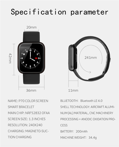Original P70 Smart Watch Bracelet - Smart Budget Watch