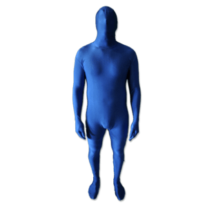 blue screen chroma key full bodysuit