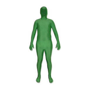 chroma key green screen suit with removable hood