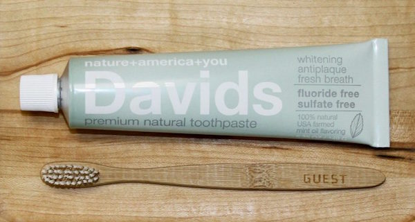 Free Davids Premium Natural Toothpaste with your order!