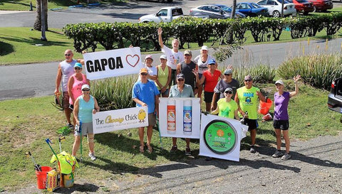 ST. Croix beach cleanup with Raw Elements Sunscreen and Badger Sunscreen