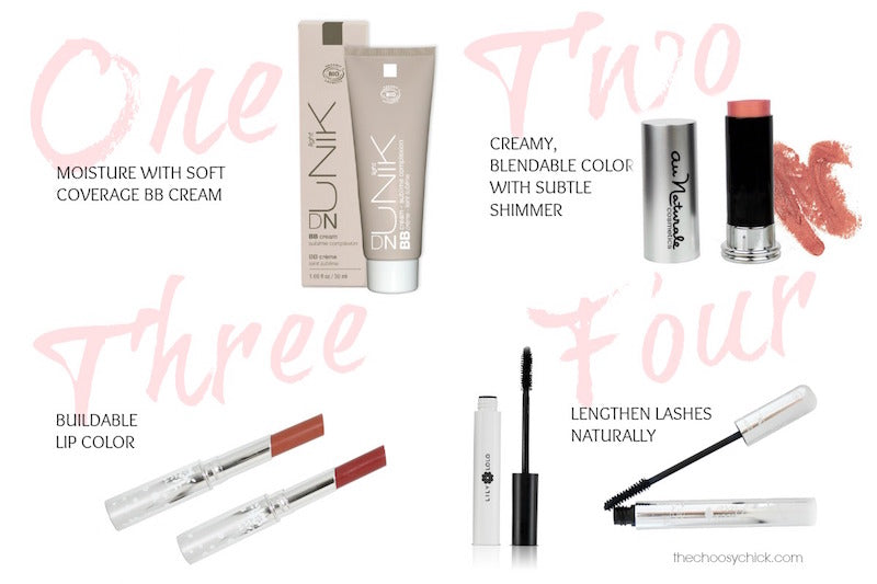 Four Products for Easy Makeup - DN-UNIK, Lily Lolo Mascara, 100% Pure, and Au Naturale