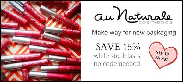Au Naturale Natural Cosmetics - save 15 Percent