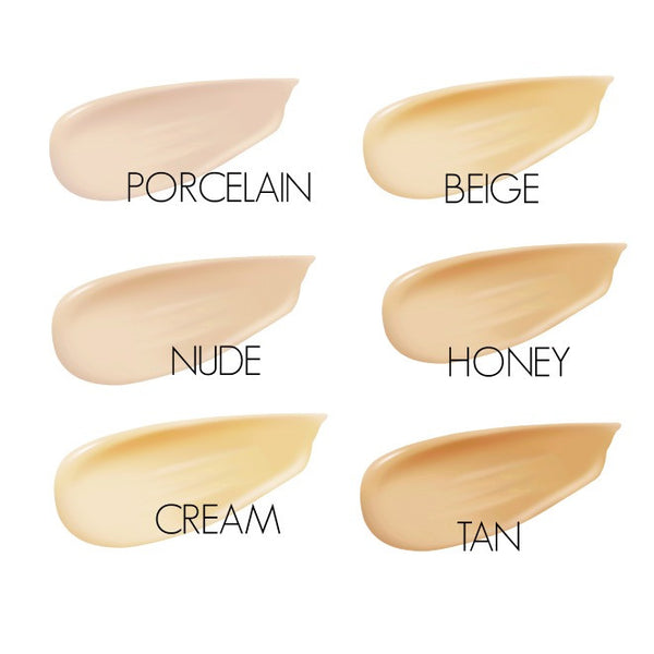 Inika Certified Organic BB Cream Swatch Chart