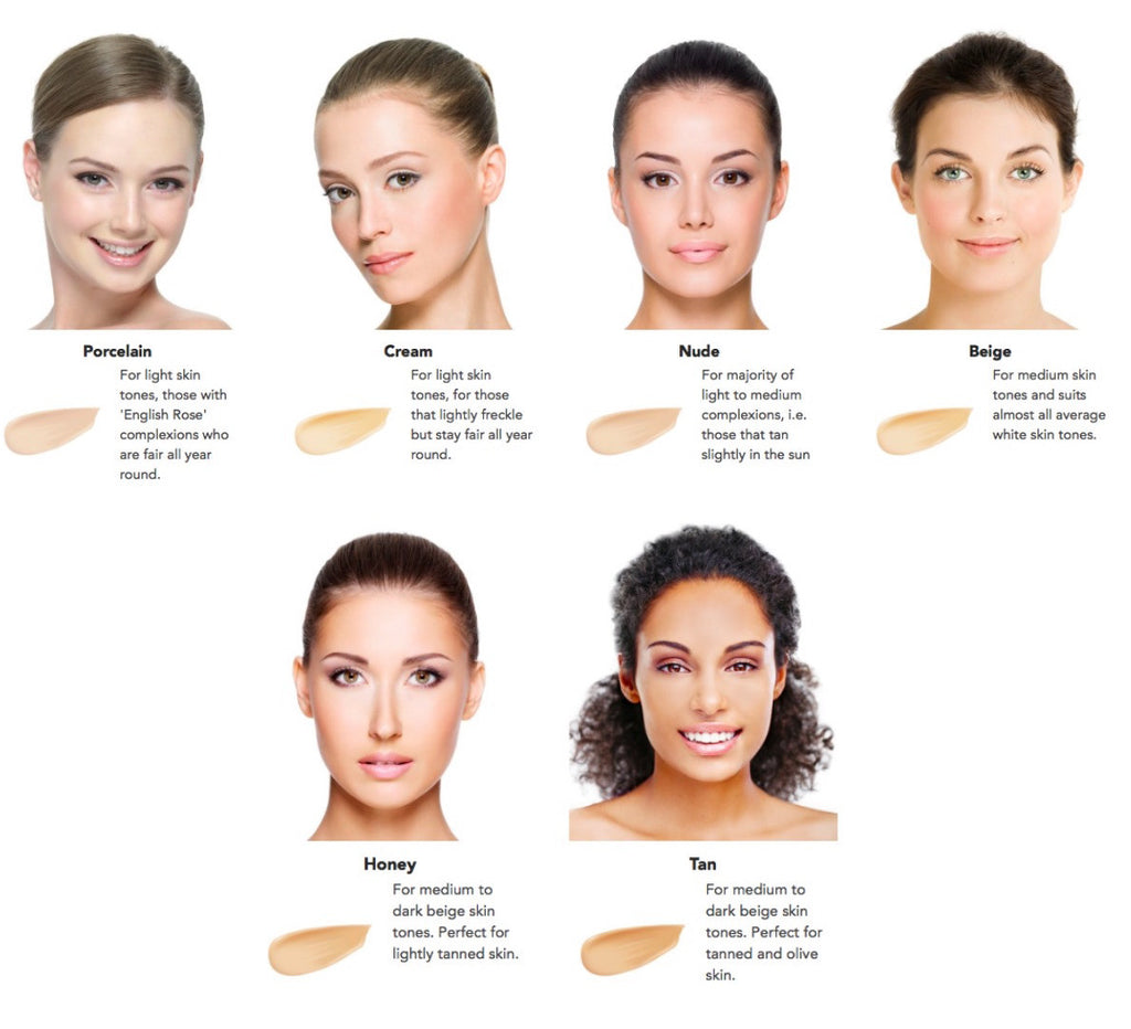 Inika Liquid Foundation Swatches