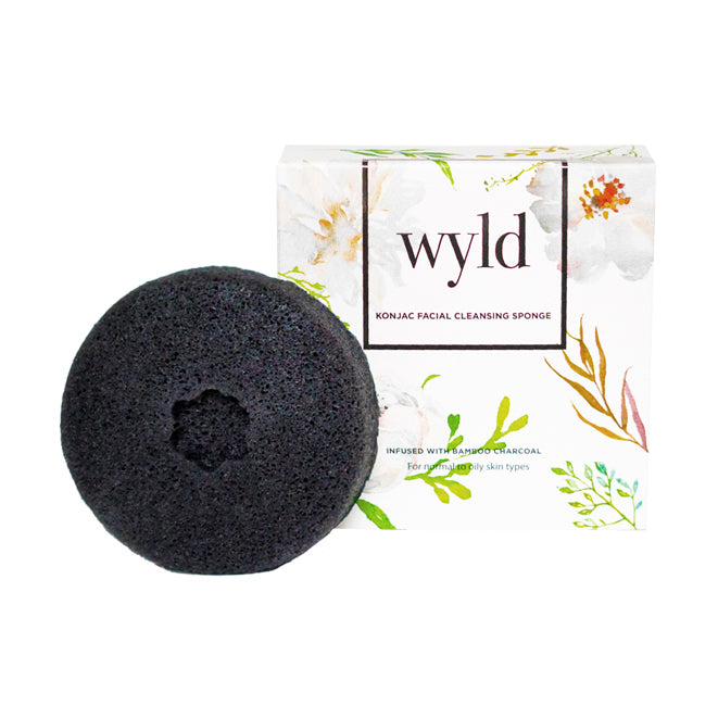 Charcoal Konjac Sponge (Normal to Oily Skin)