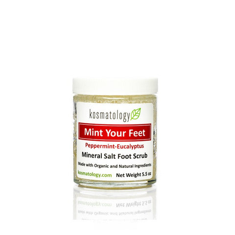 Mint + Mineral Salt Foot Scrub