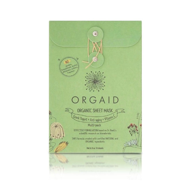 Organic Sheet Mask Multipack (6 sheets)