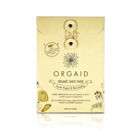 Greek Yogurt Nourishing Organic Sheet Mask - 6 pack