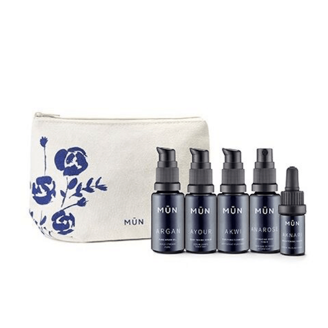 MŪN Skincare Travel Set