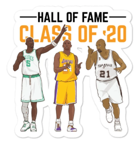 Bubble-free Hall of Fame 2020 stickers