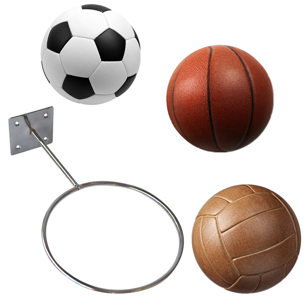 Ball Display Stand Soccerball Basketball Volleyball Anti-Rust Placement Wall Rack - ItsASportsVibe