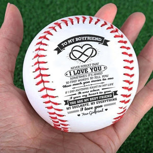 To My Boyfriend I love You Baseball Ball - ItsASportsVibe