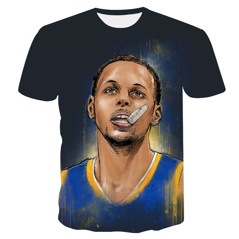 New Arrivals Male T-shirts Man Stephen Curry 3D printing  Round neck T-shirts casual men t shirt hip hop summer tops Drop Ship