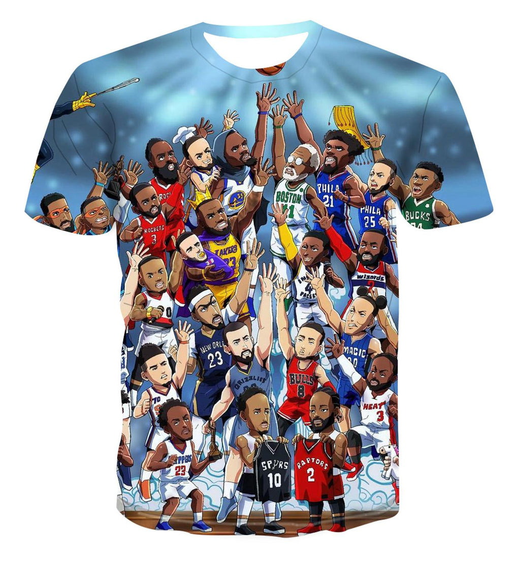 Cartoon Sports Art T-shirt - ItsASportsVibe
