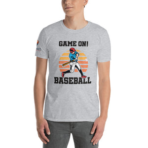 Short-Sleeve Game On Baseball T-Shirt - ItsASportsVibe