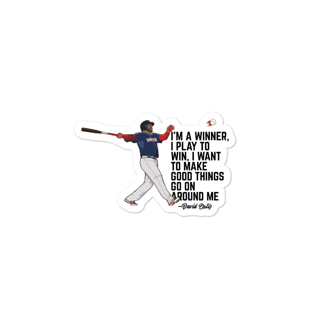 Bubble-free D.Ortiz Baseball sticker - ItsASportsVibe