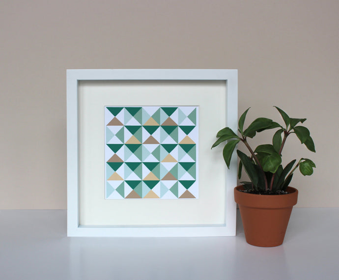 Geometric art print - scandinavian triangle art - geo pattern - scandinavian artwork - triangle artwork - abstract art print