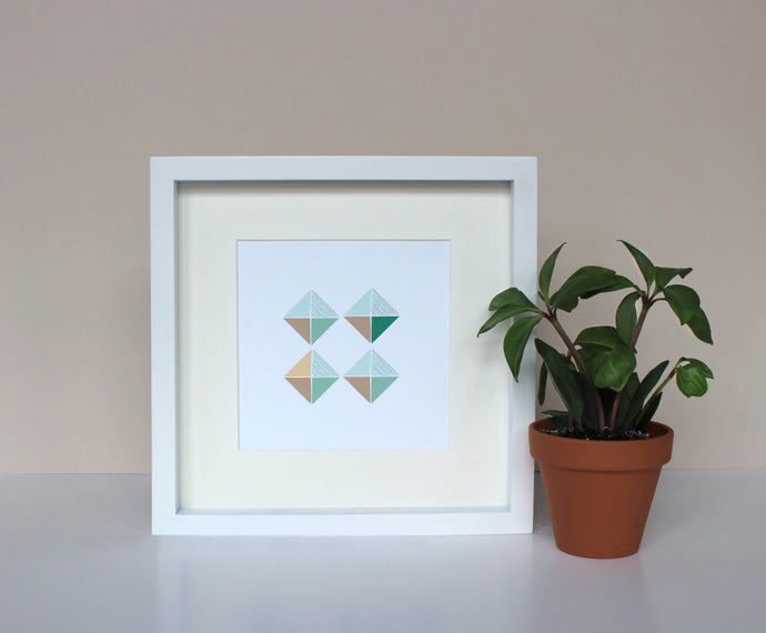 Geometric Scandi art print