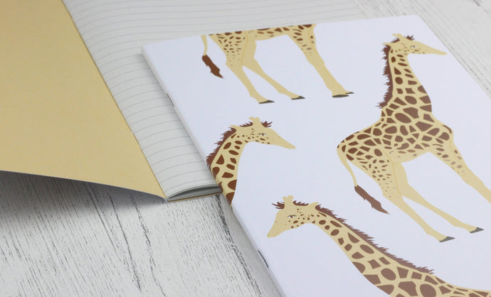Giraffe A5 notebook - plain or lined pages