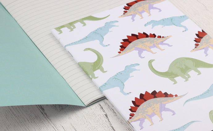 Dinosaur A5 notebook - plain or lined pages