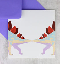 Load image into Gallery viewer, Dinosaur stegosaurus card